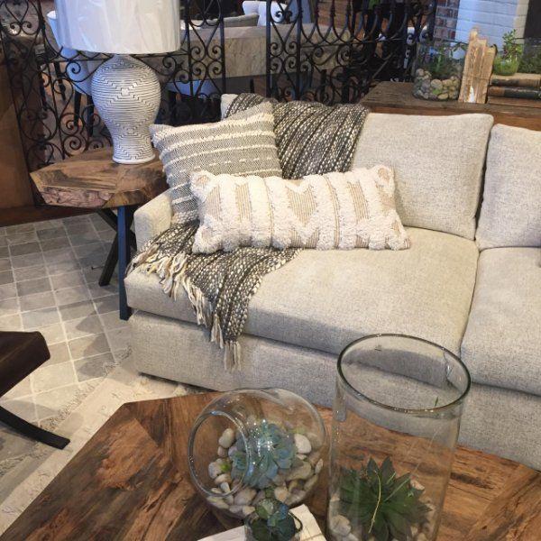 Kipton Upholstered 135 Two Piece Sectional In Plush Linen Arhaus Rh  Pinterest Com