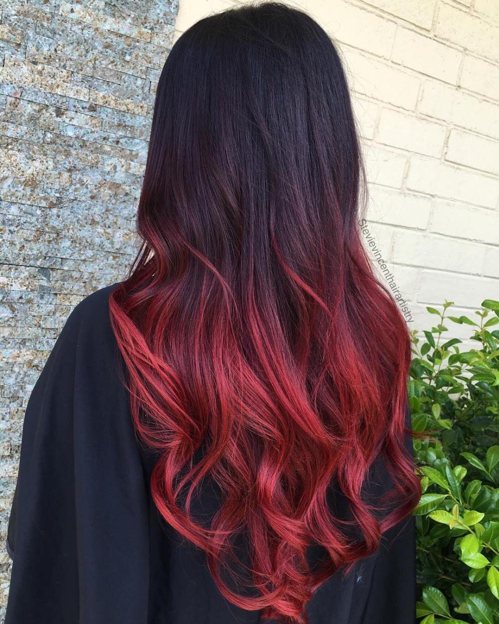 Red And Black Hair Color Ideas Hairminia Hair Color For Black Hair Wine Hair Color Vibrant Red Hair