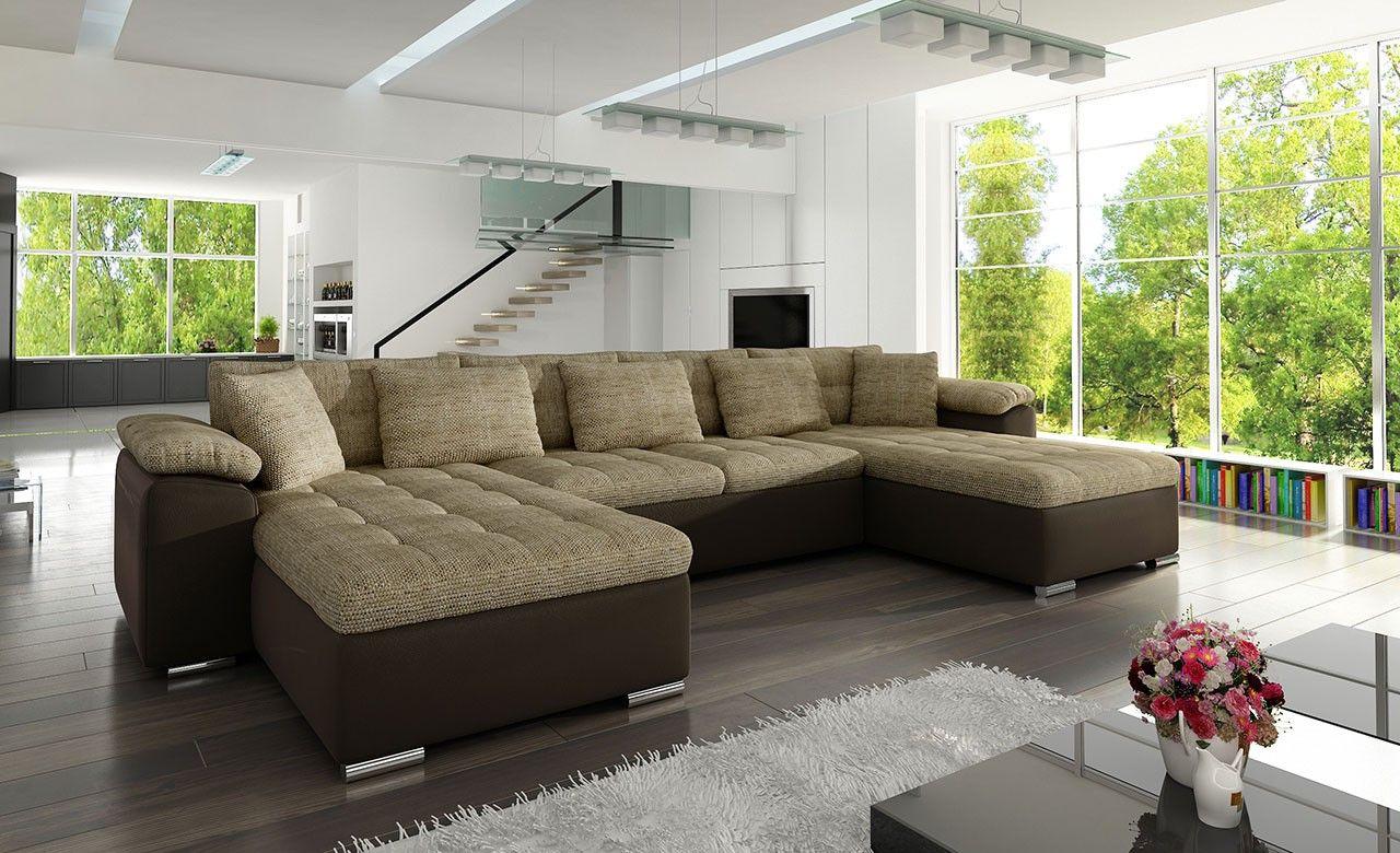 Grey 7 Seater U Shaped Sofa Bed Maisons Du Monde U Shaped Sofa Bed U Shaped Sofa Sofa Bed