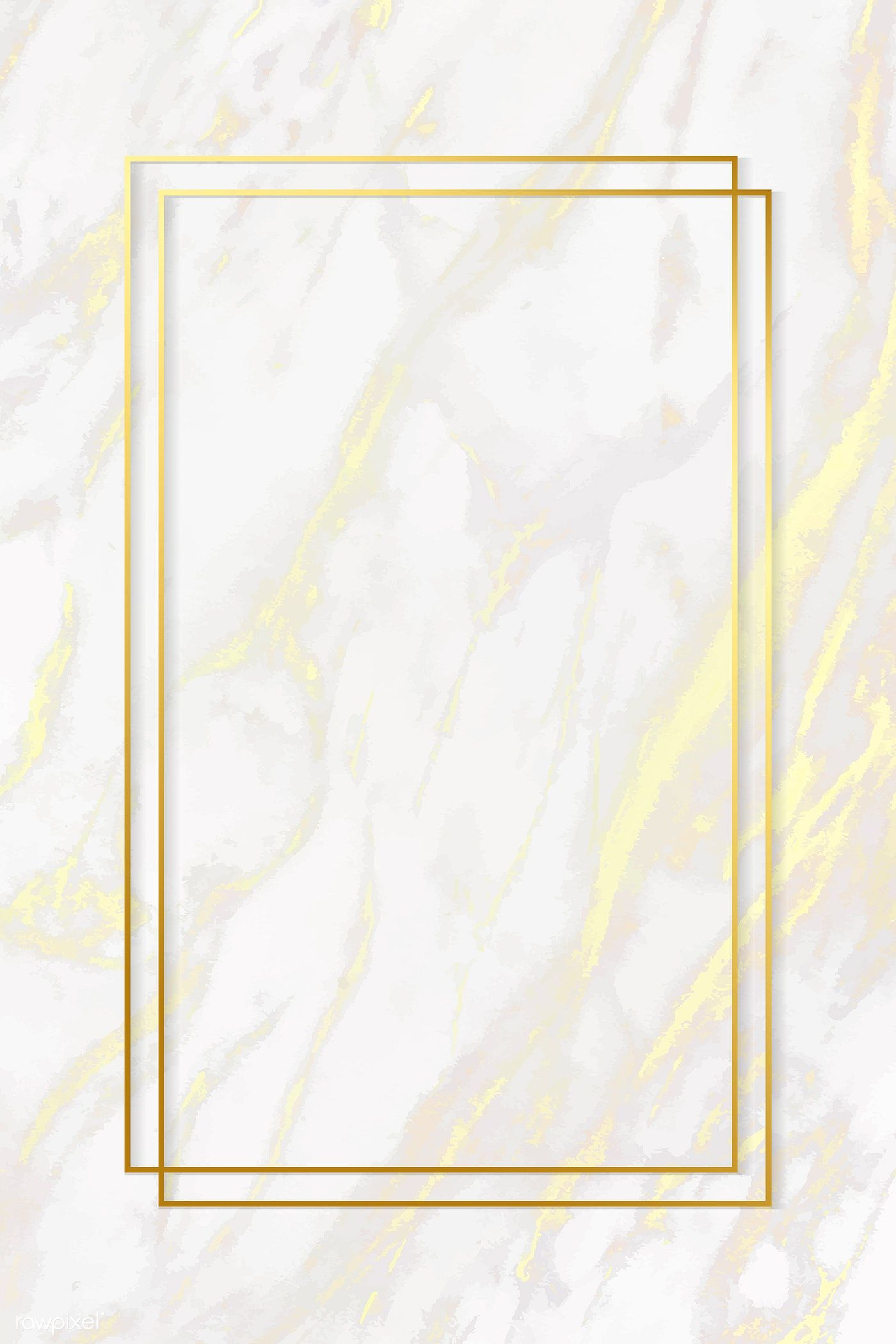 Download Premium Vector Of Rectangle Gold Frame On White Marble Texture Textured Background Gold Marble Wallpaper Marble Texture