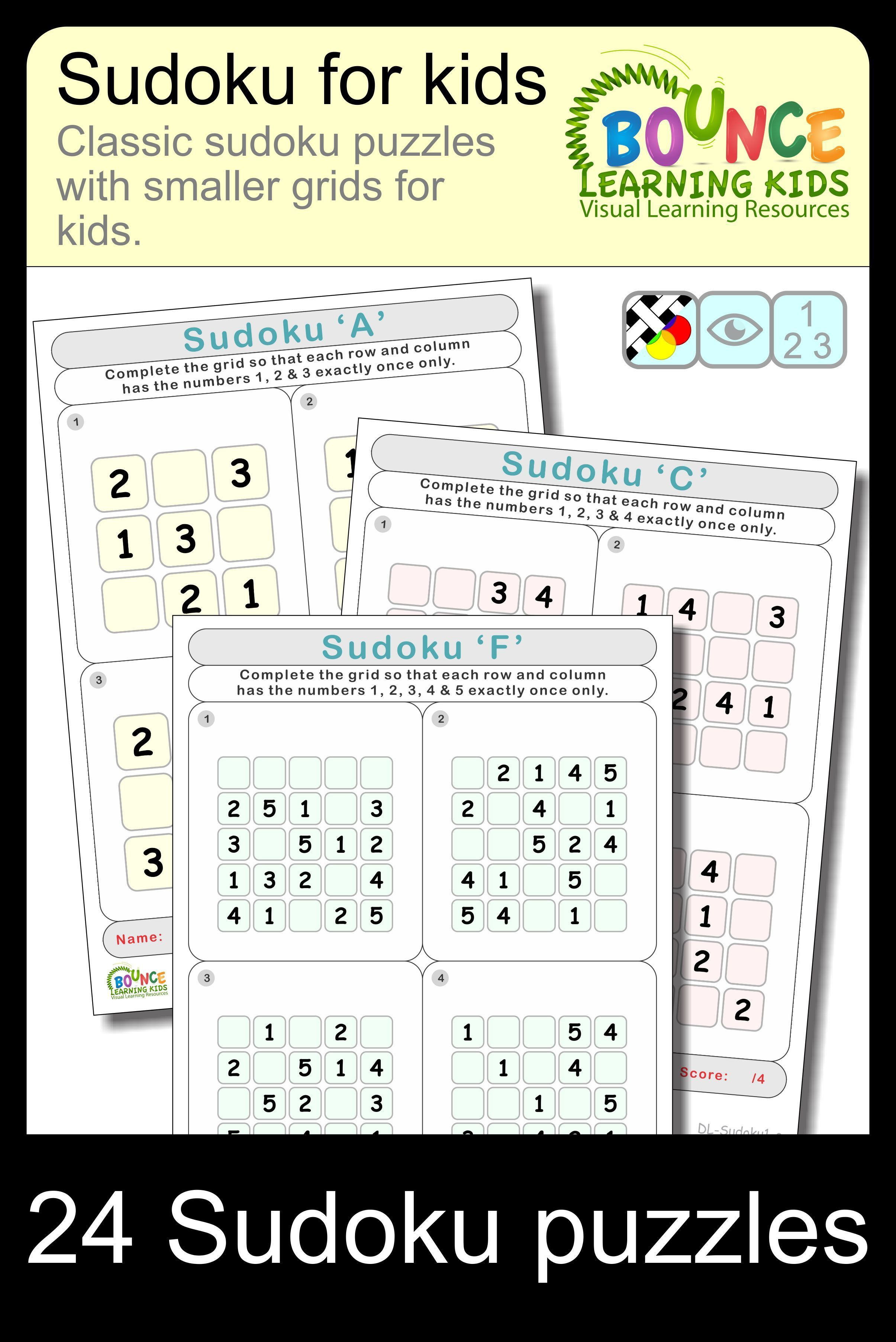 Sudoku Fun 6 Distance Learning Worksheets For Numeracy