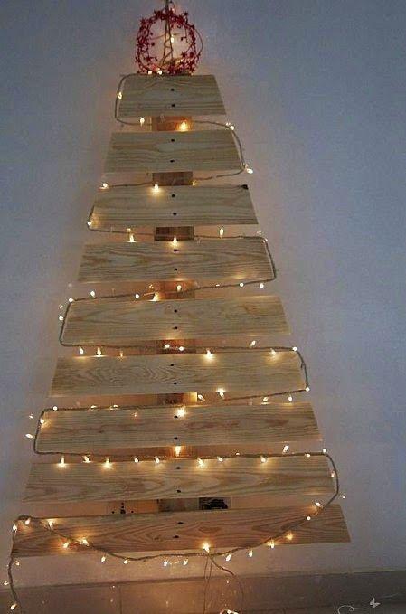 9 cosas que se pueden hacer con un palet para Navidad Decoration - cosas de navidad