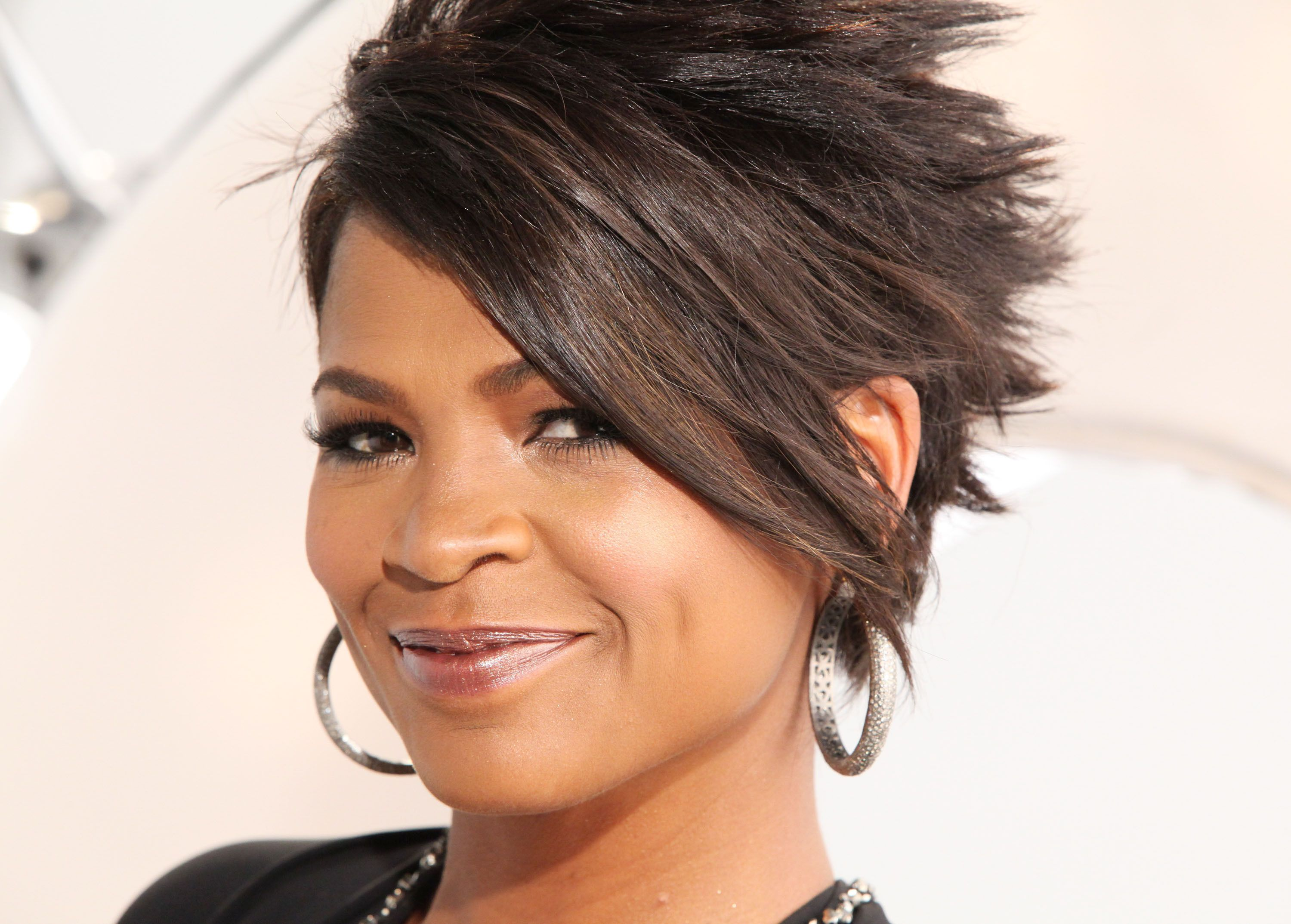 Actress Nia Long Hot Celebrity Hairstyles Photos Short Of Cut Computer High Quality