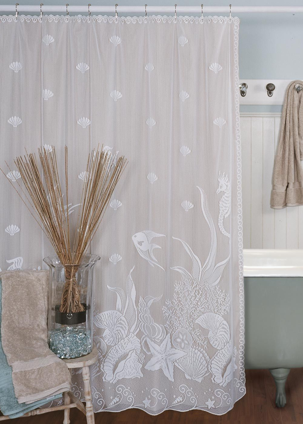 Search Bedbathhome Com Lace Shower Curtains Beach Shower