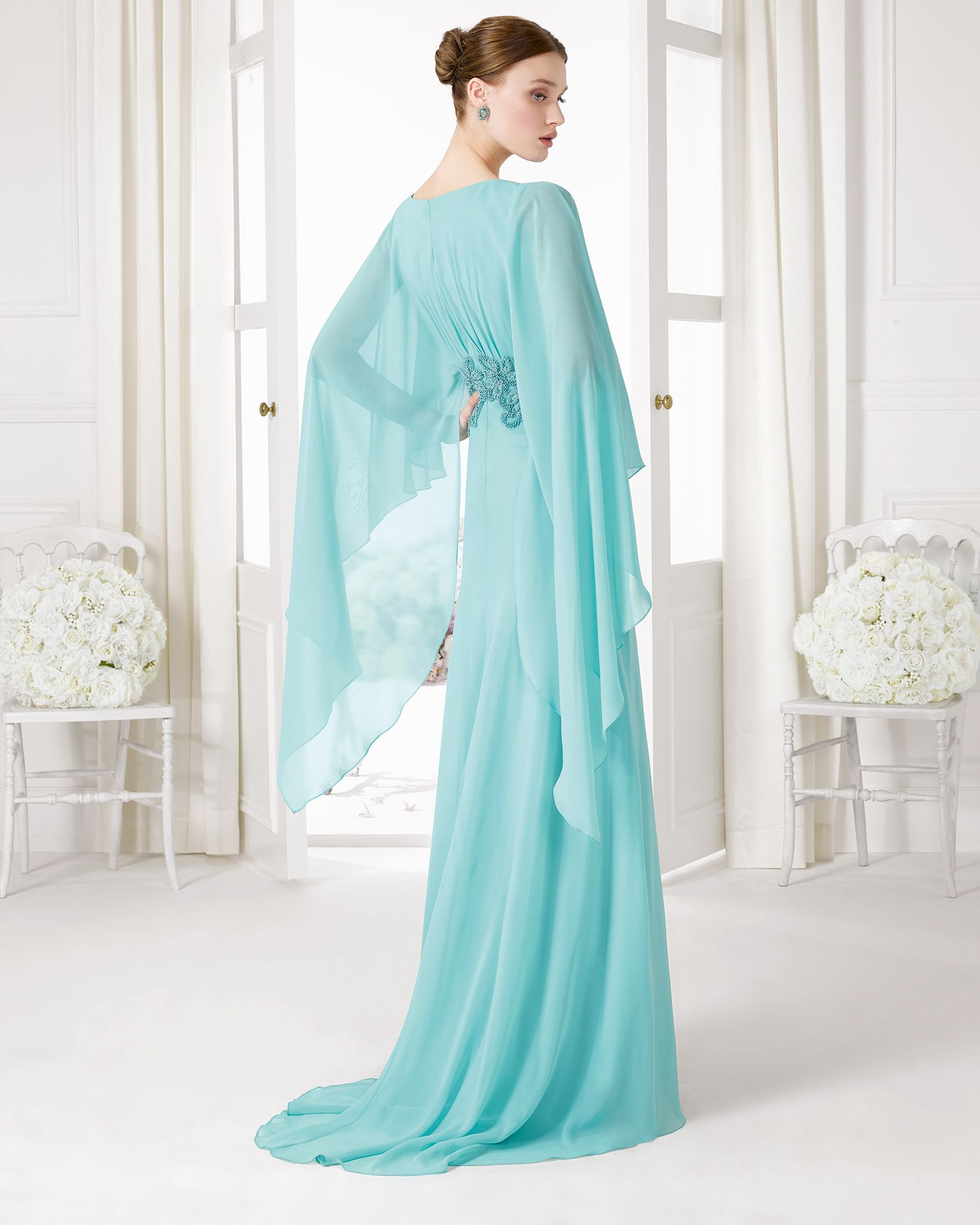 9U172 vestido de fiesta en gasa y pedreria. | vestidos con ziniutd ...