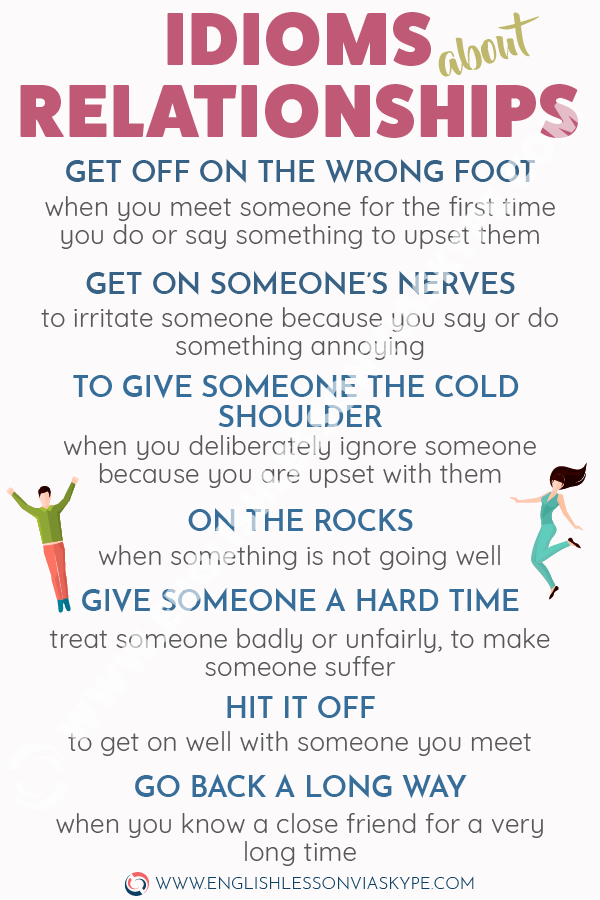 English Idioms about Relationships