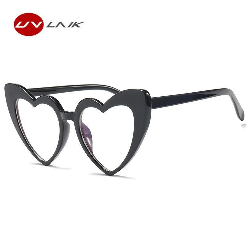 fb5e748b6c0 UVLAIK Heart Sunglasses Women brand designer Cat Eye Retro Love Heart  Shaped Glasses Ladies Shopping Sunglass UV400