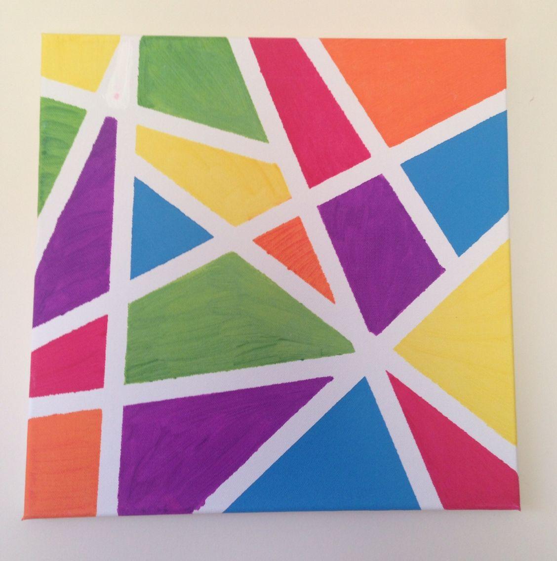 Duct Tape Canvas Art Simple Acrylic Paintings Masking Tape Art Tape Art