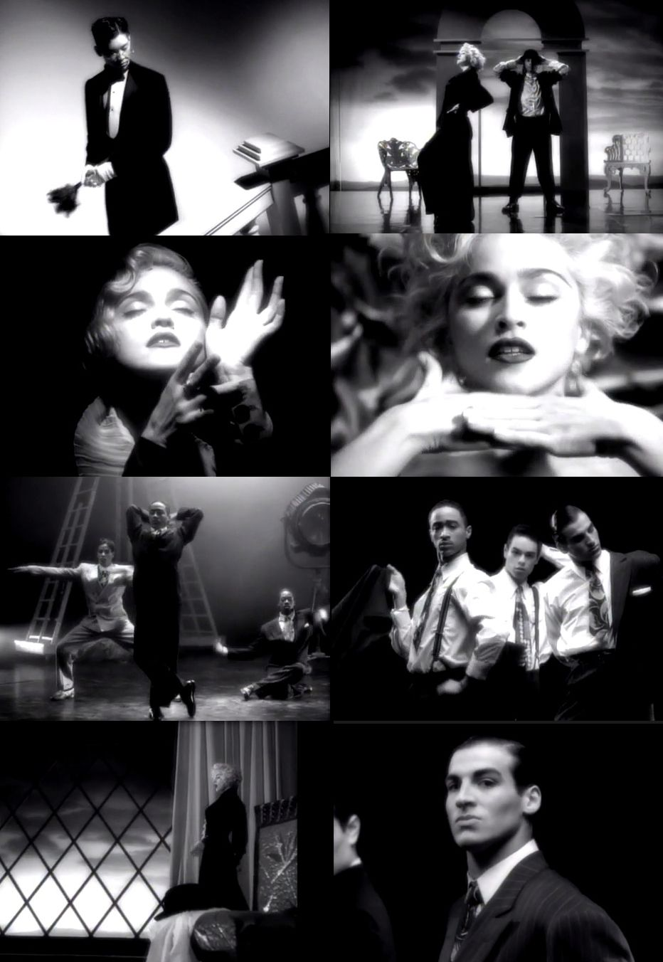 Madonna Vogue Music Video Stills Madonna Vogue Madonna Music Videos