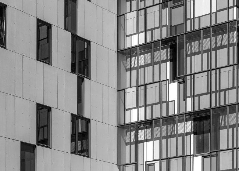 Police headquarters in Lisbon given monochrome geometric facades