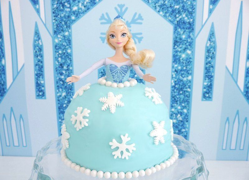 Elsa Doll Birthday Cake Learn to make this easy Elsa doll cake for