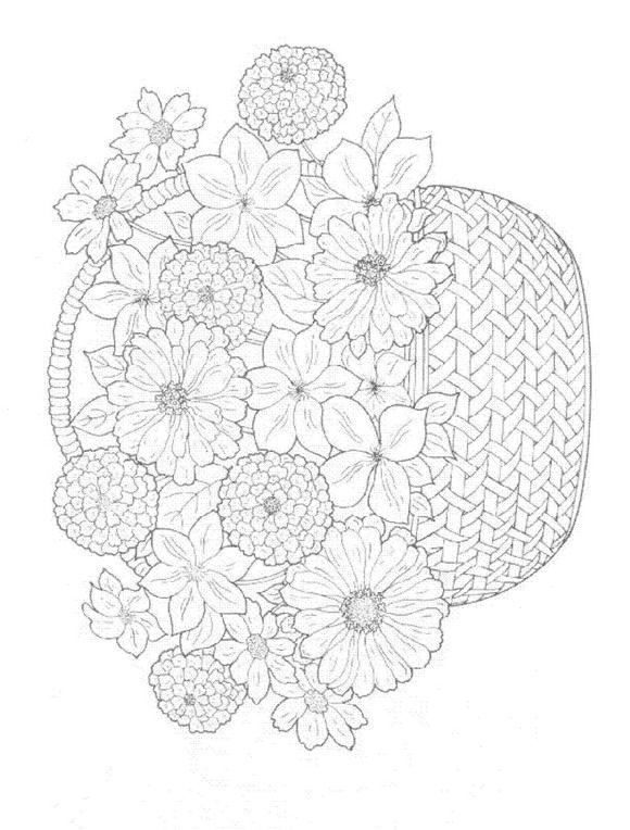 Ramo de flores para colorear - Imagui | Bordados varios. | Pinterest ...
