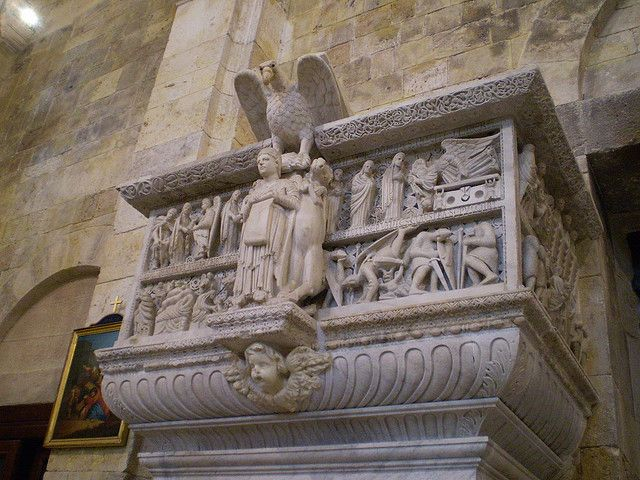 #Pulpito di Mastro Guglielmo, prima Duomo di Pisa, dal 1312 presso il Duomo di #Cagliari. Photo by cristianocani, via flickr
