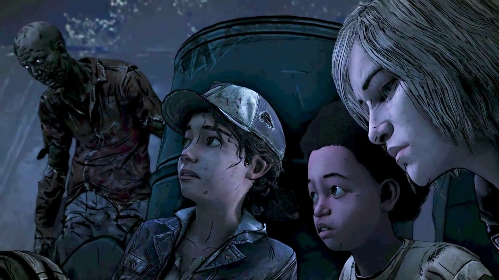 Clementine Aj And Violet The Walking Dead The Walking Dead Telltale Walking Dead Game Clementine Walking Dead
