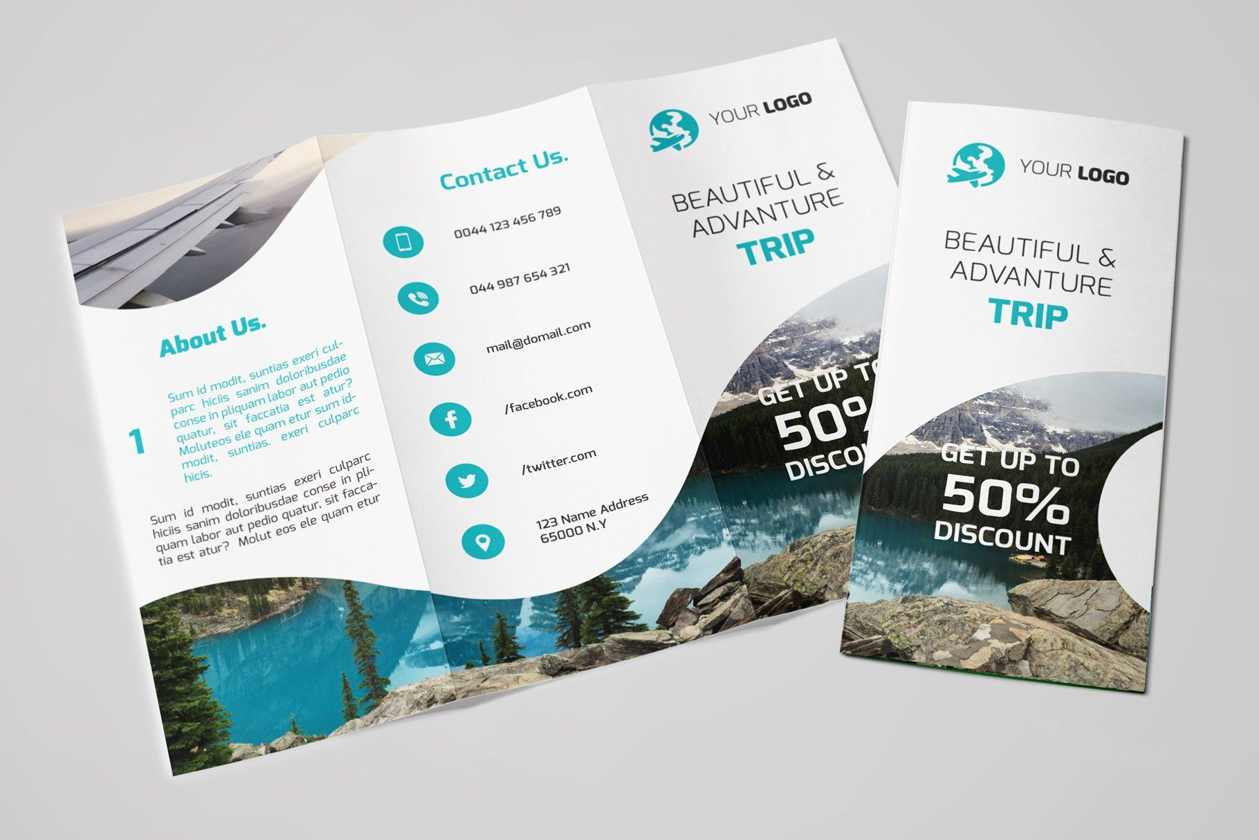 Travel TriFold Brochure Brochure, Trifold