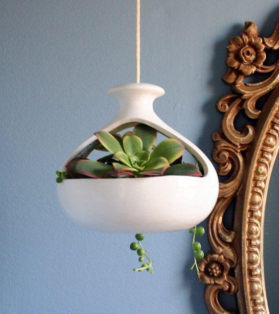 Mid Century Modern Ceramic Hanging Pot Ceramics Modern