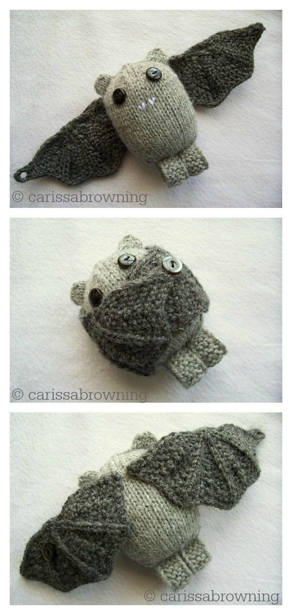 Amigurumi Bat Free Knitting Pattern and Paid