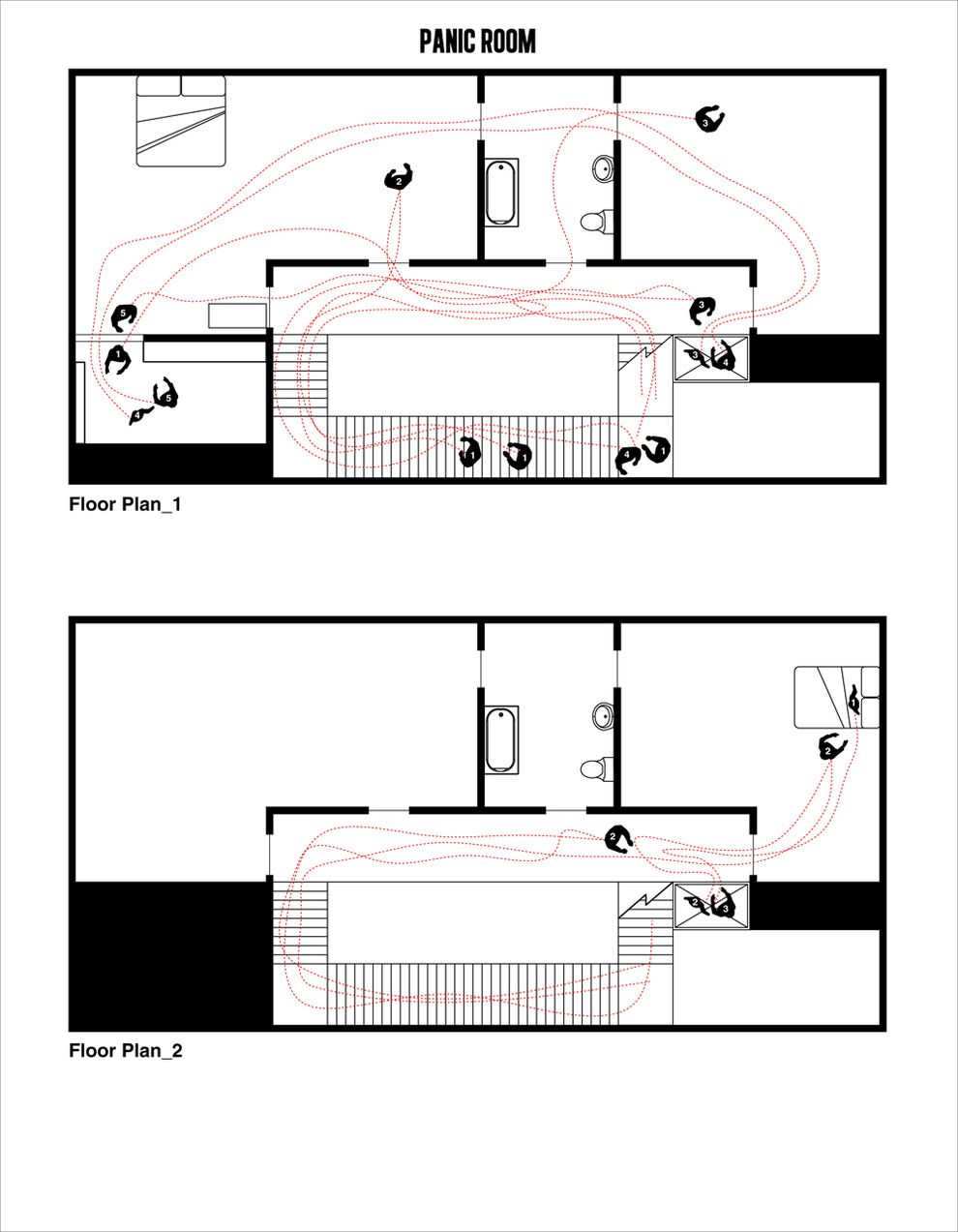 9 Floor Plans Of Popular Movie Scenes O Quarto Do Panico Floor Plan Arquitetura