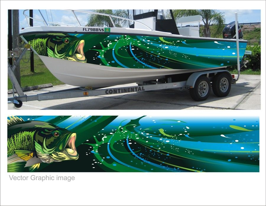 Contest Entry 5 For Digital Quot Wrap Quot For Fishing Boat