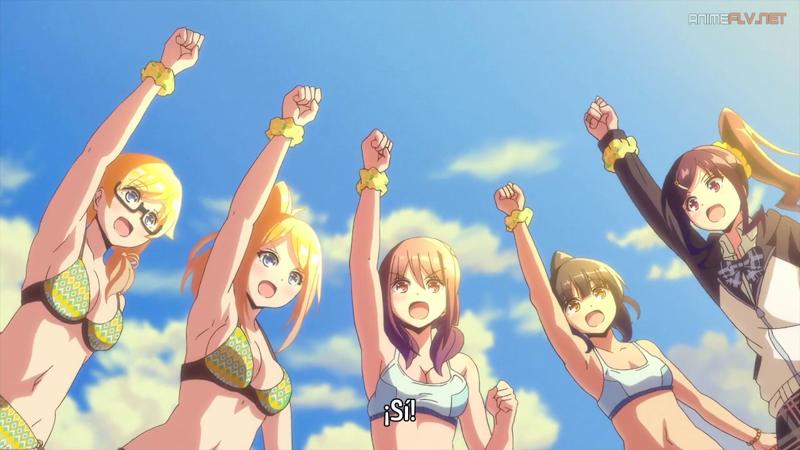 El Club De Voleibol De Playa Chica En La Playa Arte De Anime Arte Anime