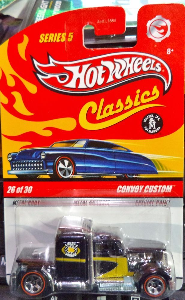Hot Wheels Classics Series 5 Custom Convoy Dark Blue Ships World ...