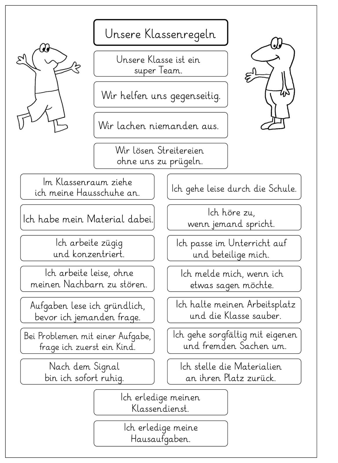 Pin by Sofia Lyk on Classroom Rules-Klassenregeln | Pinterest ...