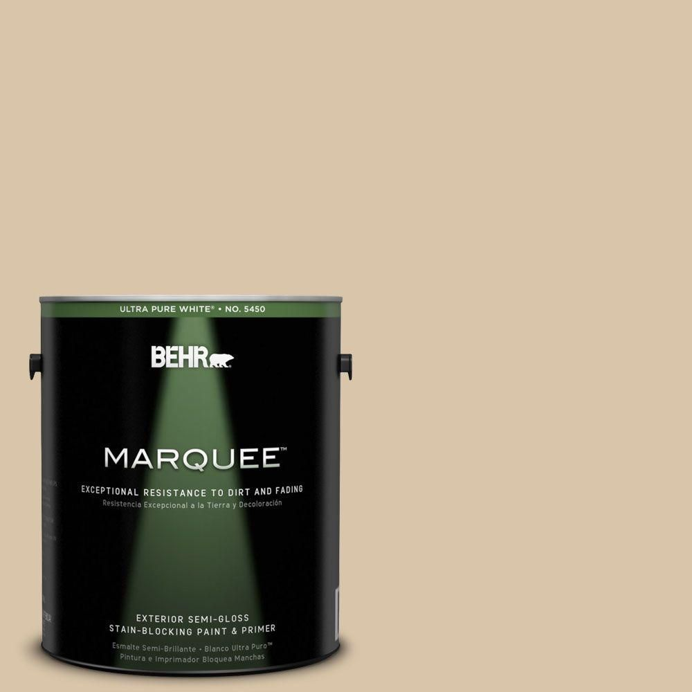 Exterior Paint Colors Home Depot: BEHR MARQUEE 1 Gal. #MQ2-23 Almond Butter Semi-Gloss