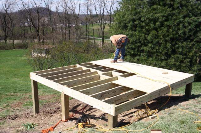 How to build a foundation for a shed on a slope how to for How to build a post and pier foundation