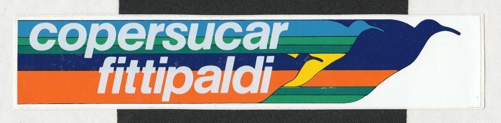 COPERSUCAR FITTIPALDI F1 TEAM ORIGINAL PERIOD RACING STICKER AUTOCOLLANT EMERSON