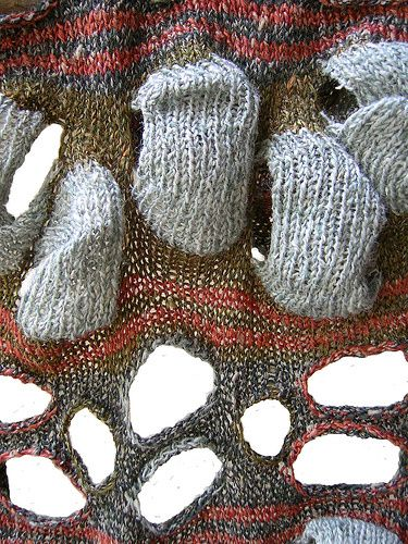 knitting, I love the  textures on this.