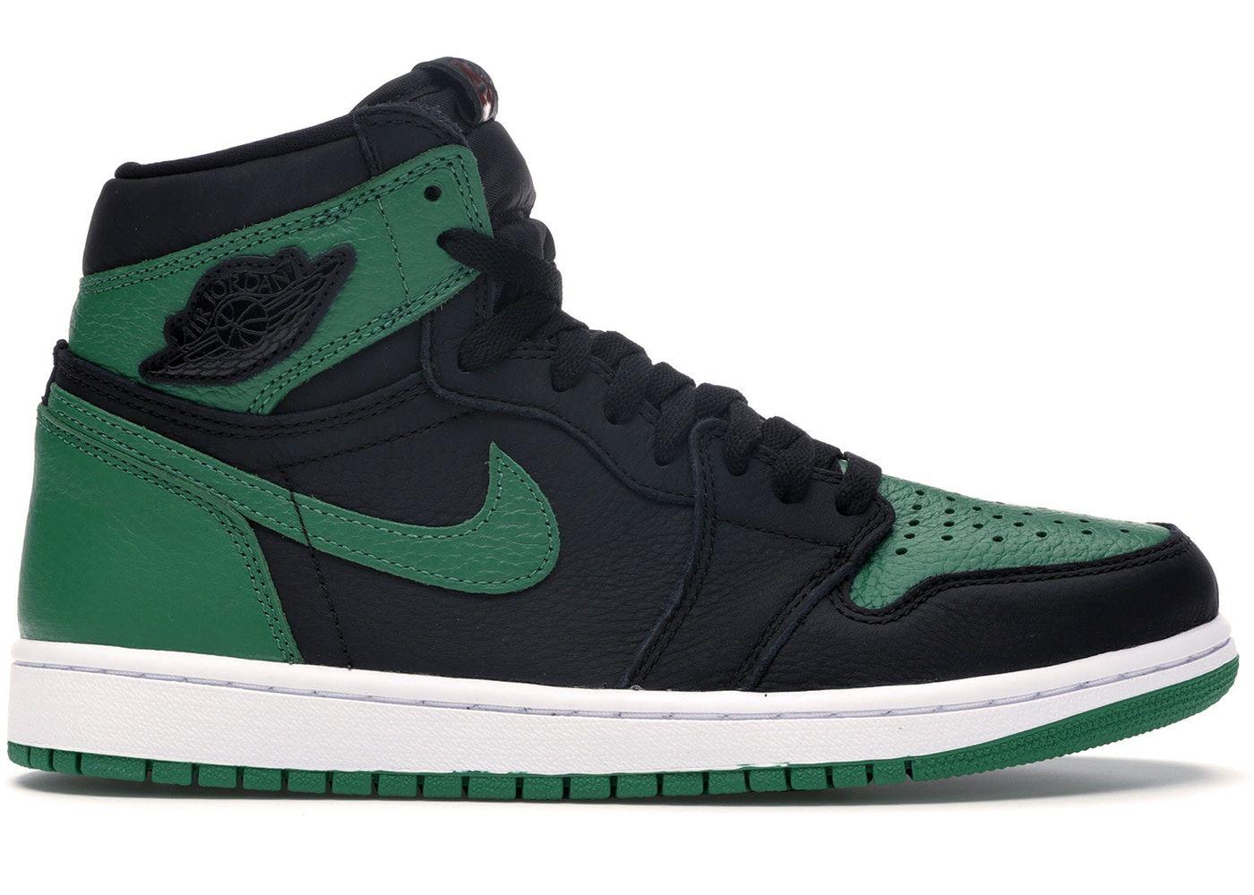 Jordan 1 Retro High Pine Green Black In 2020 Air Jordans Jordan