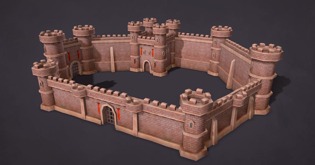 Medieval Castle Walls Constructor 3d Fantasy Unity Asset Store In 2021 Medieval Castle Castle Wall Castle