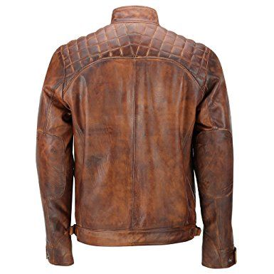 Mens Real Soft Leather Antique Washed Tan Rust Brown Vintage Zipped