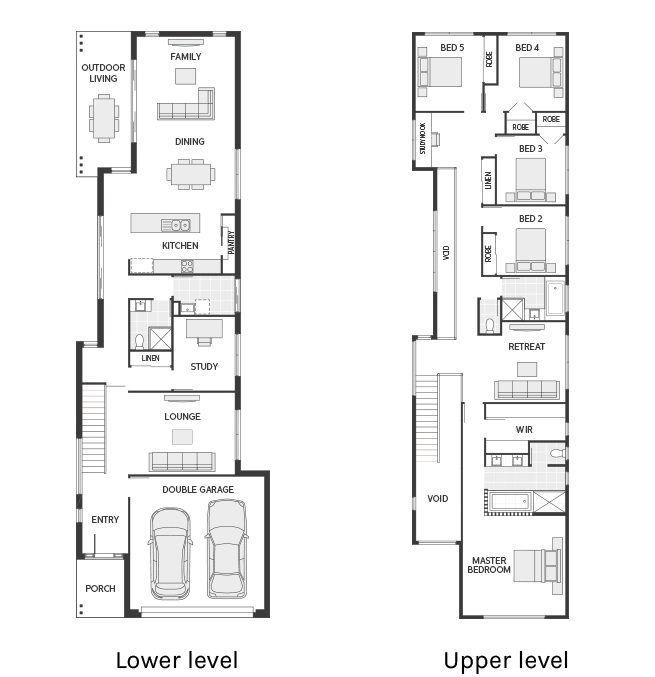 Floor Plan Friday Narrow But Large 2 Storey Home Zemin Planlari Ev Zemin Planlari The Plan