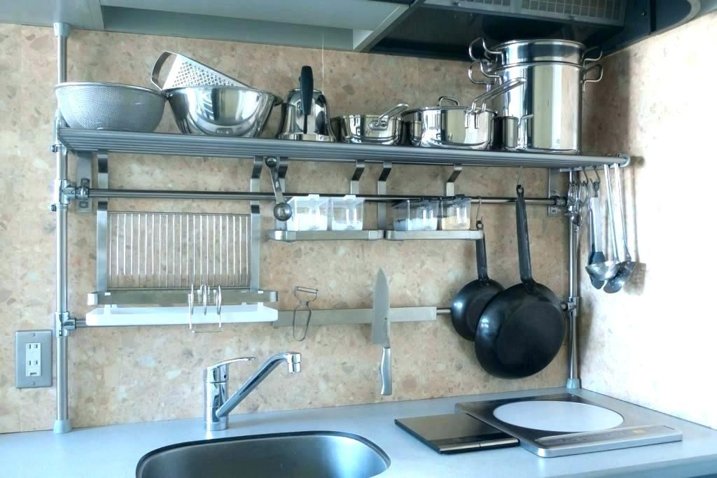 Metal Kitchen Shelves Wall Full Size Of Shelf Inch Floating In