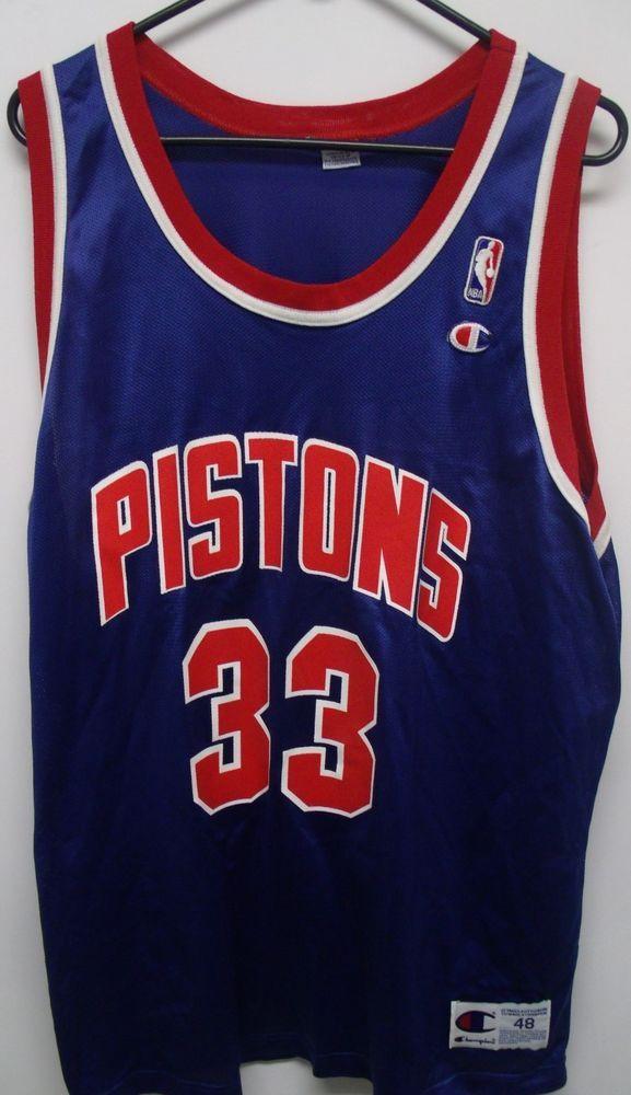 online retailer 0bc82 f40f1 Details about 90's Vintage Grant Hill Detroit Pistons NBA ...