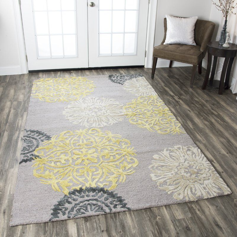 Constanta Hand Tufted Wool Gray Yellow Rug In 2021 Yellow Area Rugs Yellow Rug Yellow Grey Rug