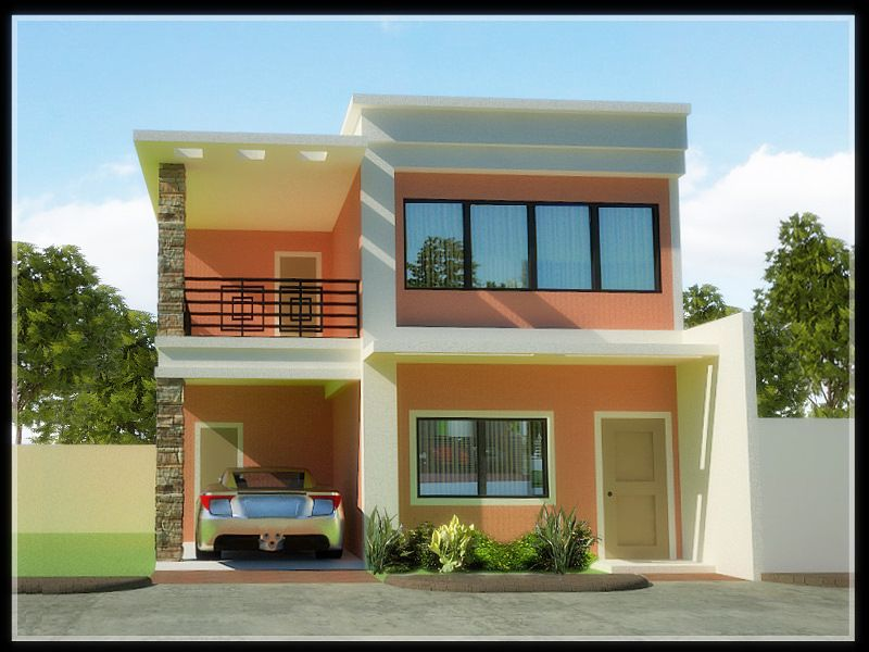 Architecture two storey house designs and floor for Simple bungalow house design with terrace