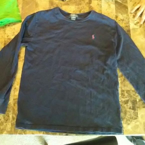 Boys LS Polo Shirt Boys Ralph Lauren Polo Shirt. Good used condition. navy blue with red horse. Ralph Lauren Tops Tees - Long Sleeve
