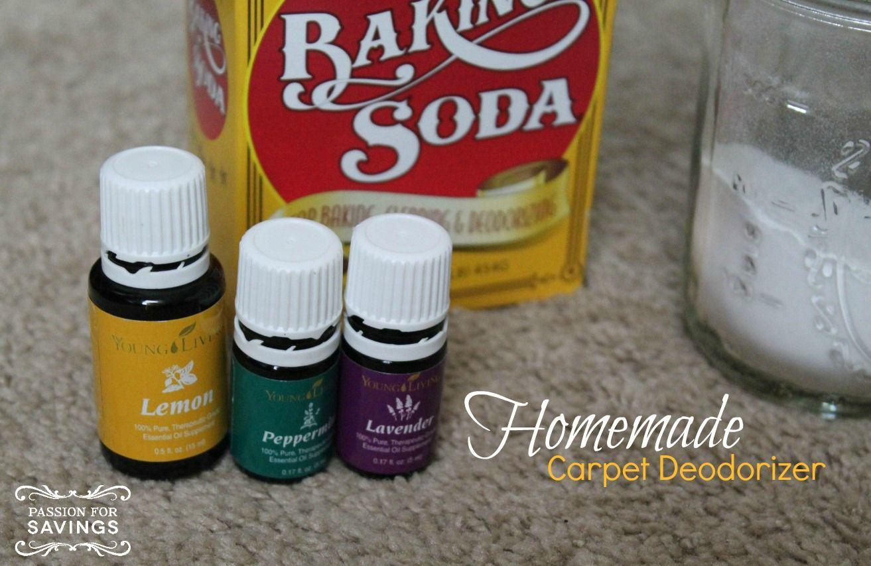 Homemade Carpet Deodorizer! Easy DIY Recipe using