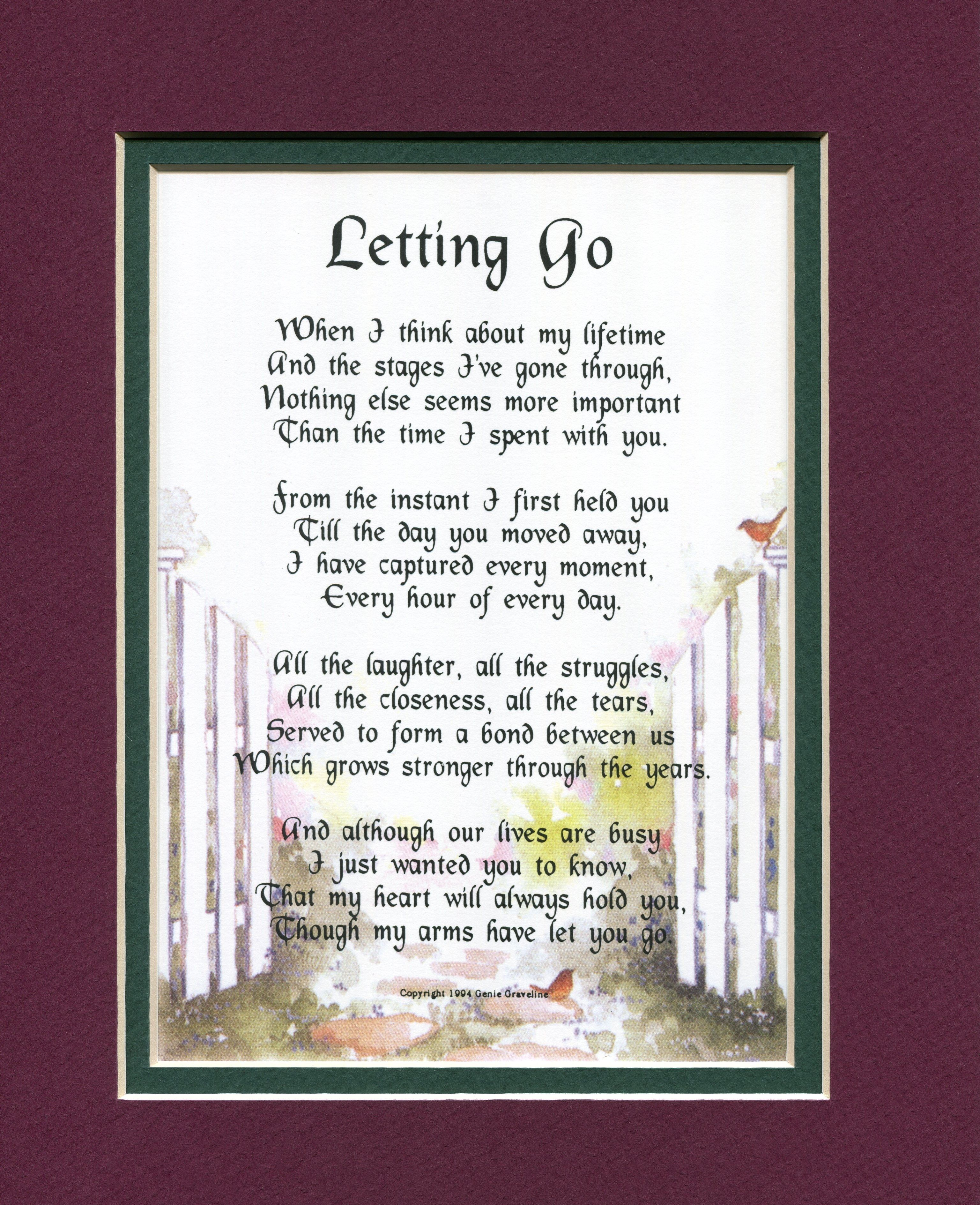 letting go son poems daughter poems birthday poems for daughter gift baskets for