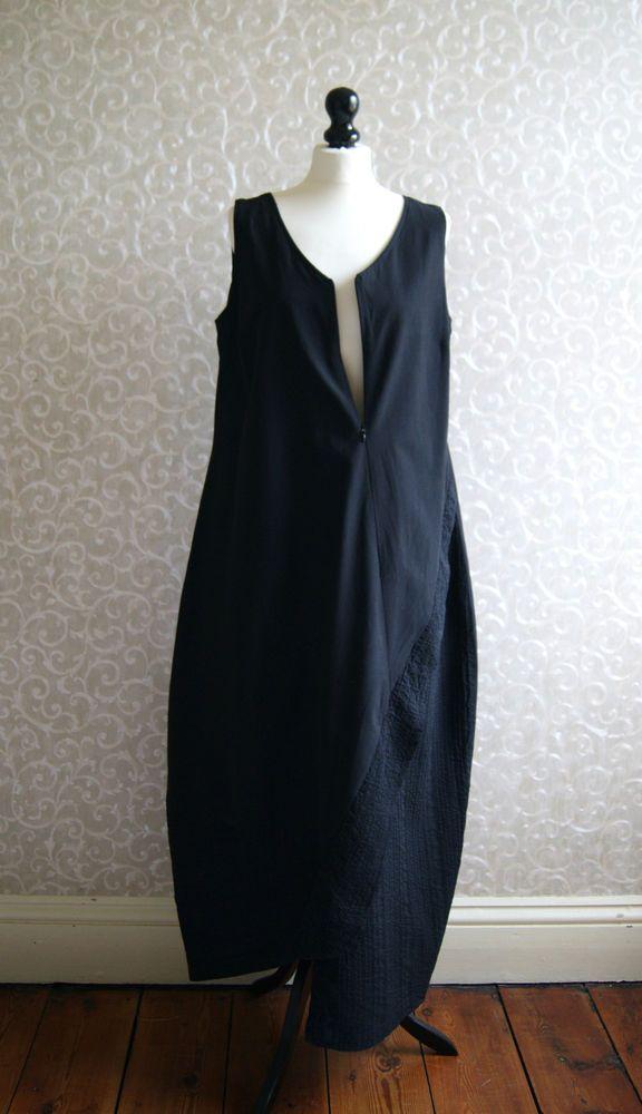Hem Berlin krines berlin fabulous black lagenlook balloon hem dress rarely worn