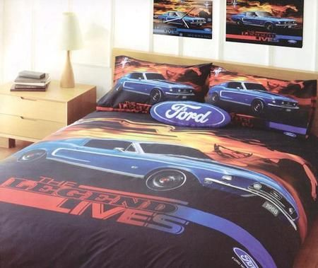 Ford The Legend Lives Queen Bed Bedroom Quilt Cover