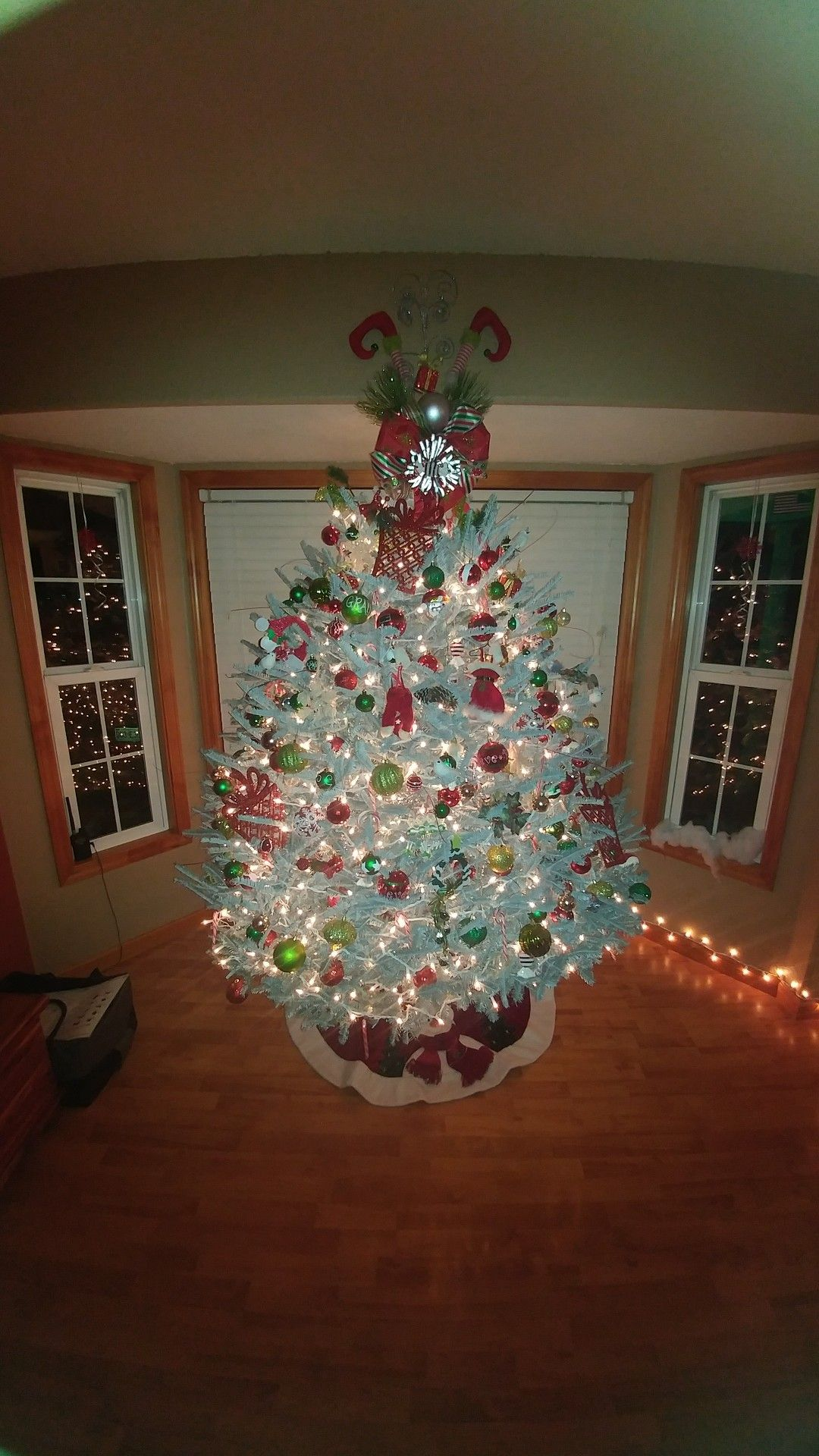 Whimsical TreeHomemade Elf/Ribbon Tree Topper Tree