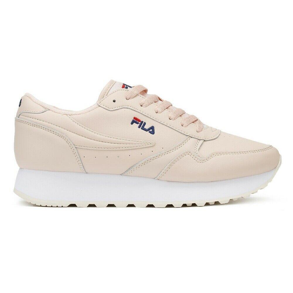 scarpe donna fila rosa zeppa alta
