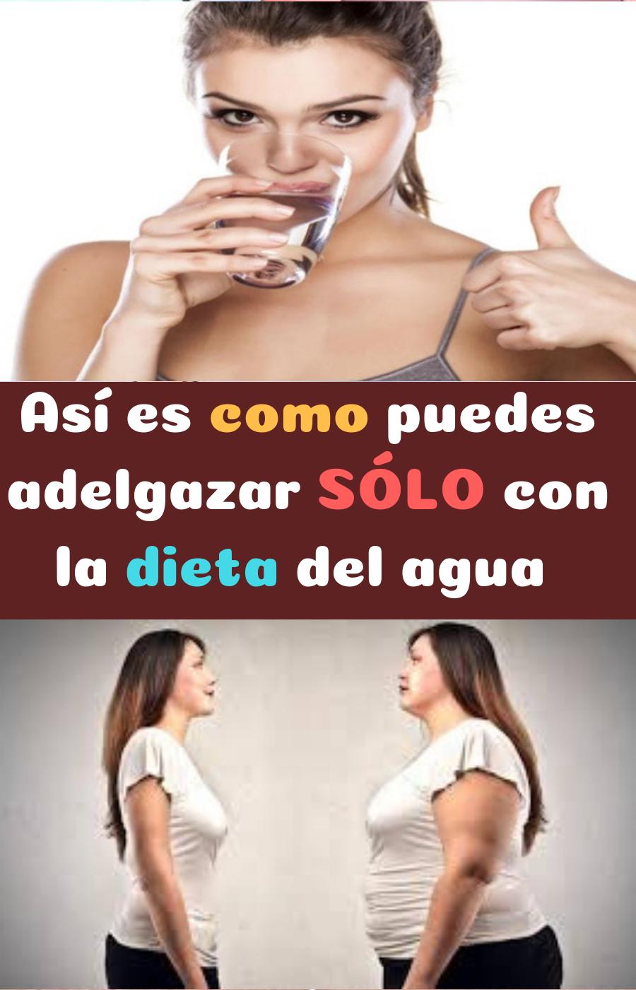 beber mucha agua adelgazar o engordan