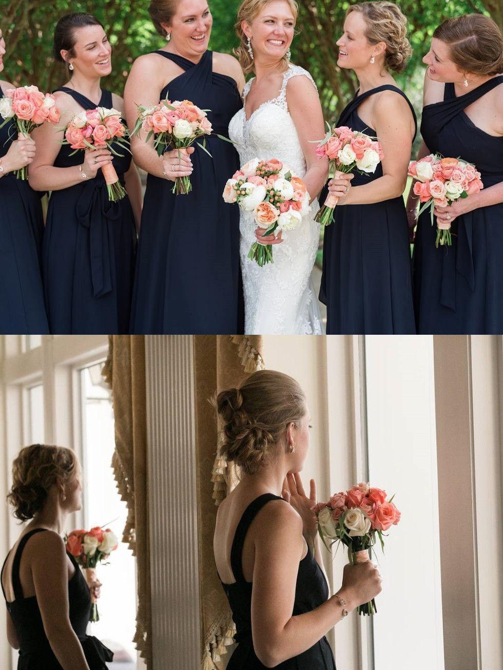 Princess pink chiffon long bridesmaid dress weddings pinterest