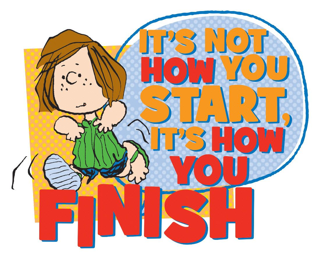 It's important to finish what you've started!