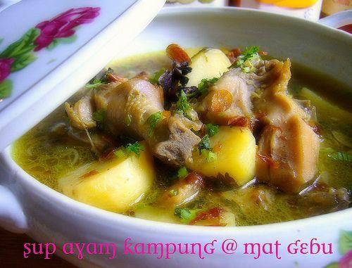 Sup Ayam Kampung Chicken Food Asian Recipes