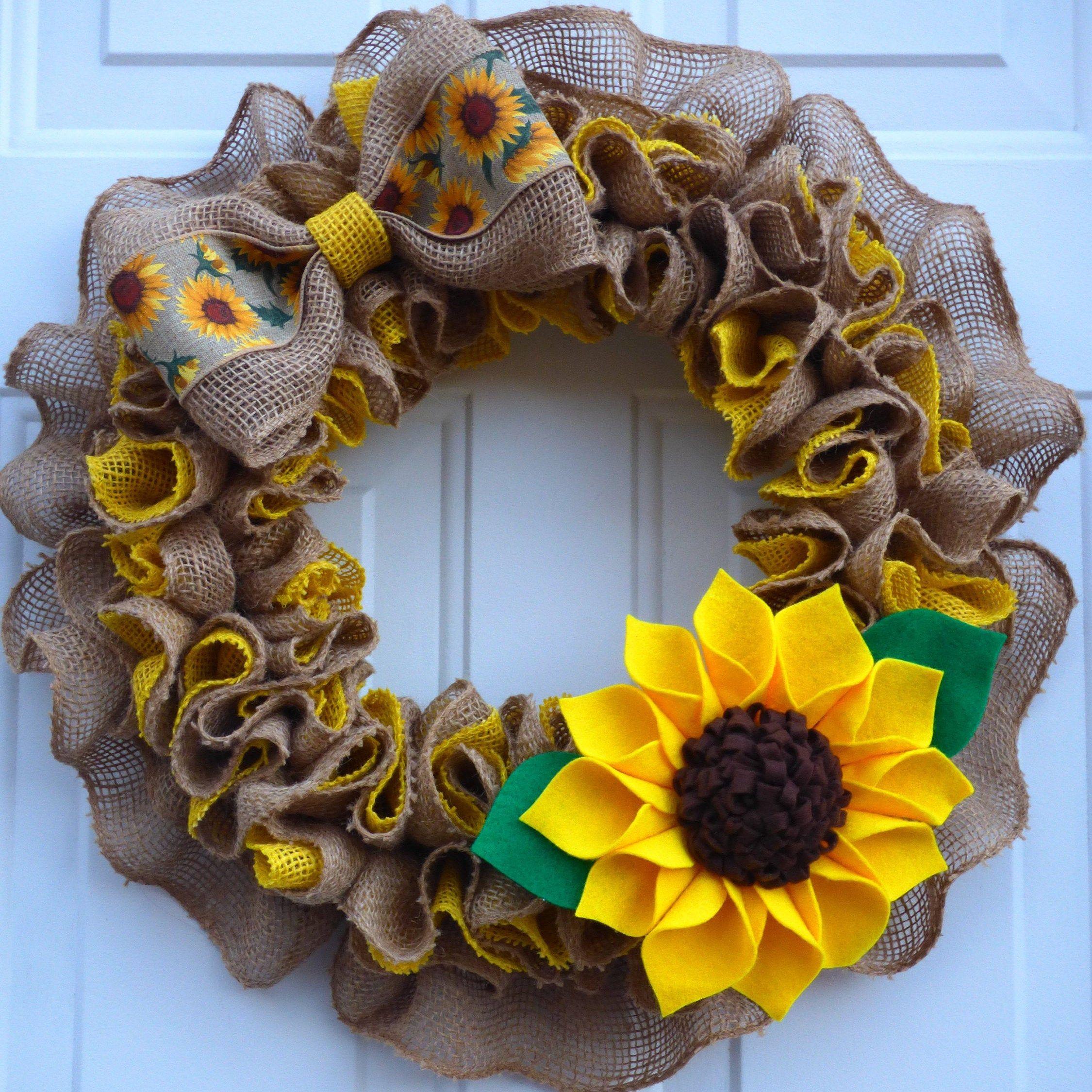 Spring Wreaths for Front Door/ Summer Wreaths/ Sum
